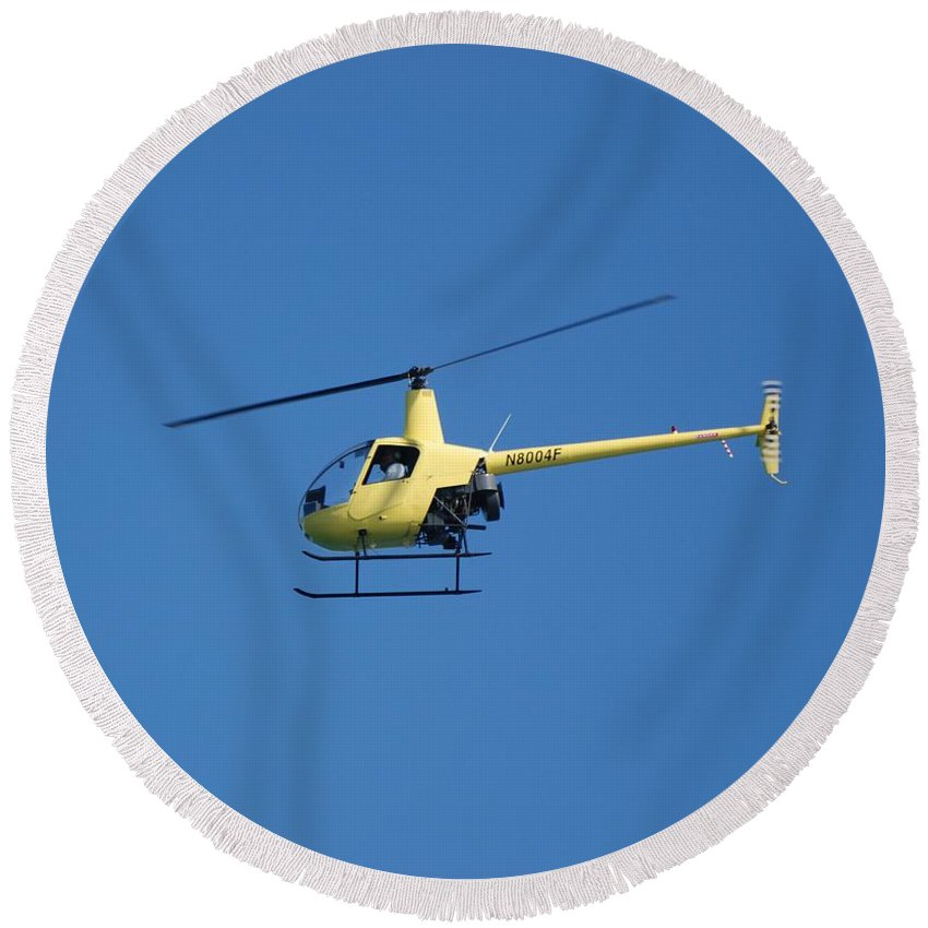 Yellow Round Beach Towel featuring the photograph Chopper by Rob Hans