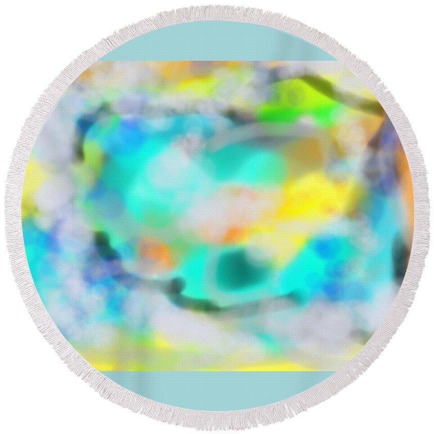 Ciel Round Beach Towel featuring the digital art Ciel by Michael Laughrin