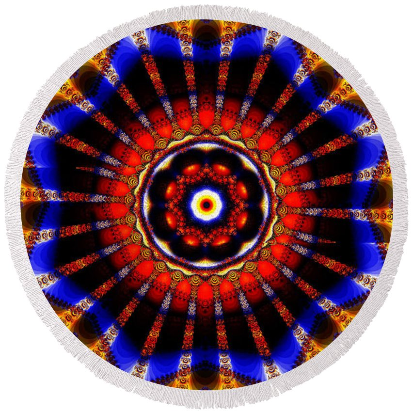 Clay Round Beach Towel featuring the digital art Circus by Clayton Bruster