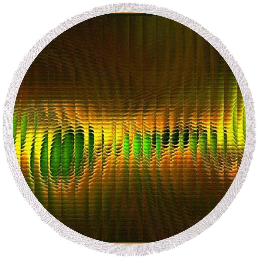 Glass Blocks Round Beach Towel featuring the digital art Citrus Secrets by Doug Morgan
