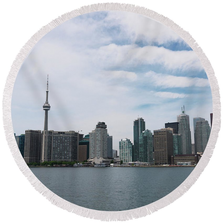 Toronto Round Beach Towel featuring the photograph City Of Toronto by Maxim Images Prints