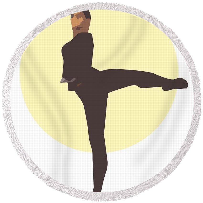 Dancer Round Beach Towel featuring the digital art Classic Ballet Dancer by Joaquin Abella