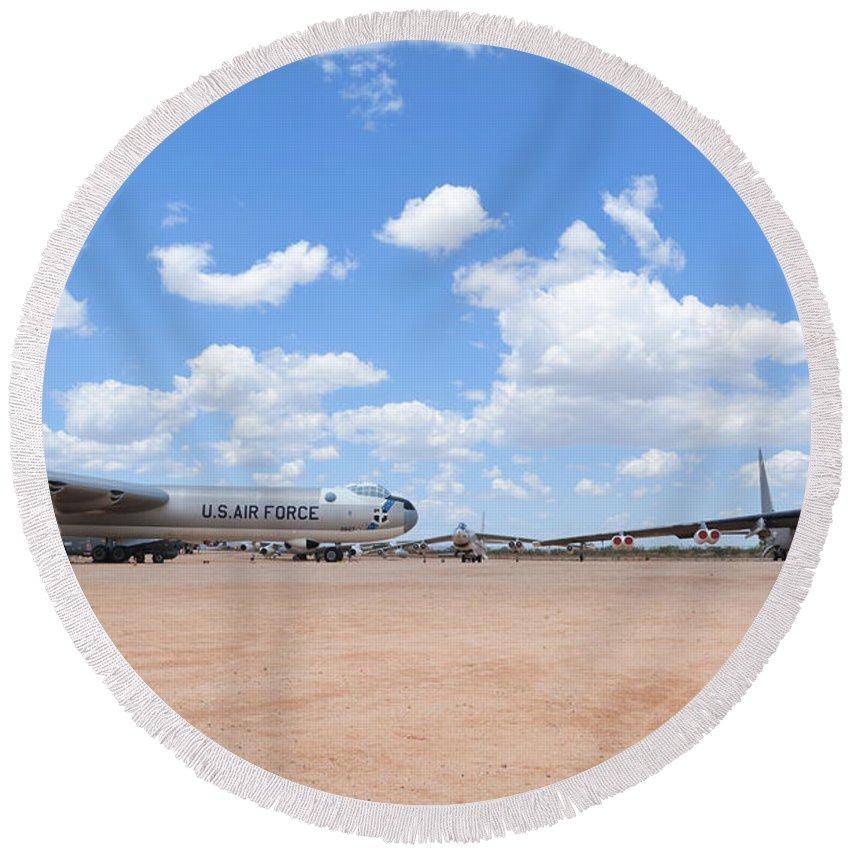 Convair Round Beach Towel featuring the photograph Classic Bombers by Matt Abrams
