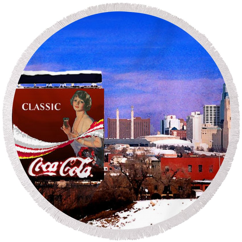 Landscape Round Beach Towel featuring the photograph Classic by Steve Karol