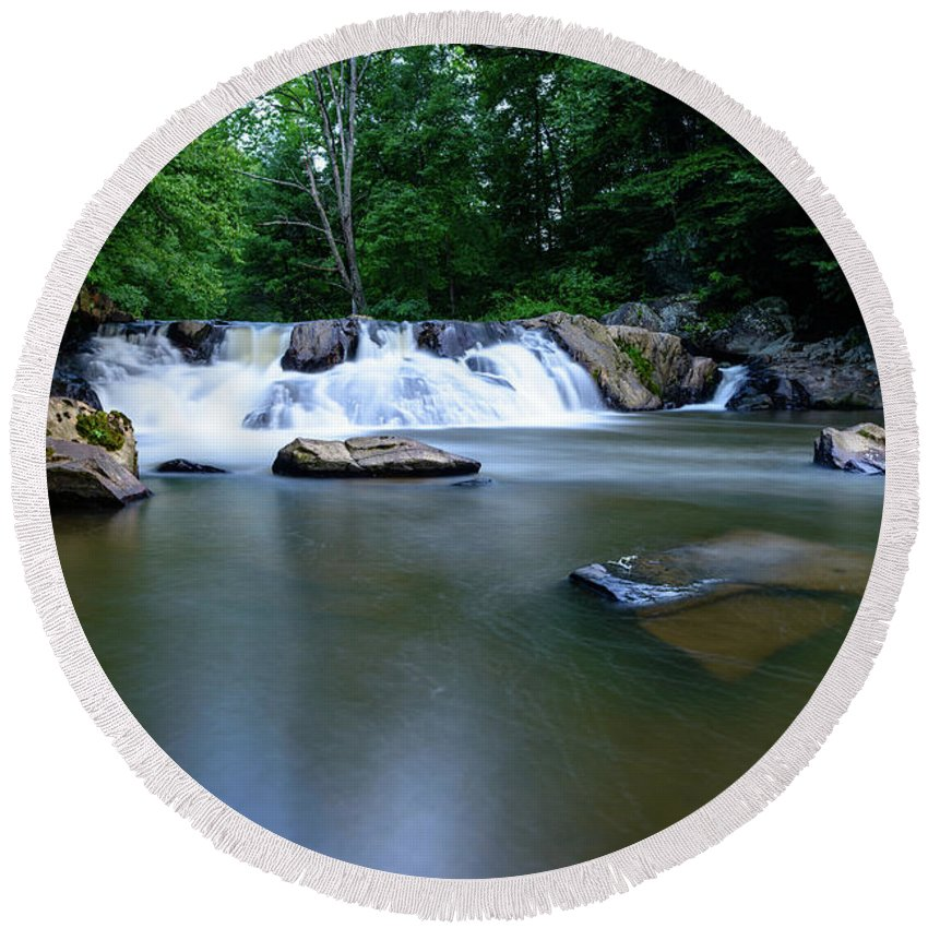 Chestnut Round Beach Towel featuring the photograph Clear Creek by Michael Scott