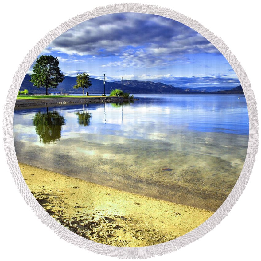 Penticton Round Beach Towel featuring the photograph Clear Waters by Tara Turner