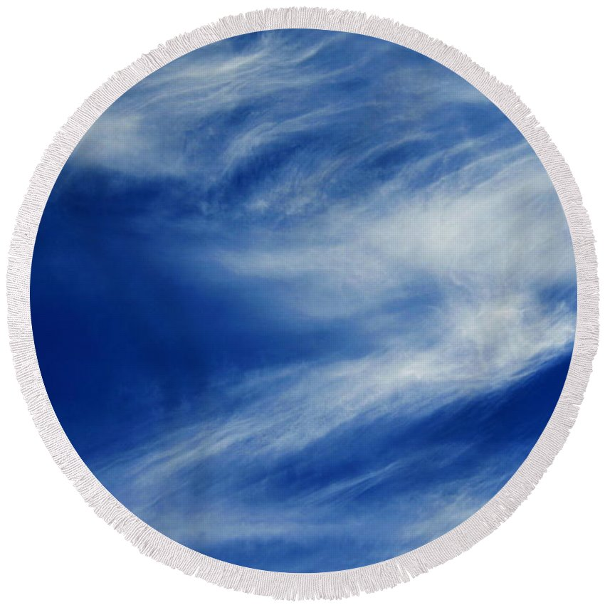 Clay Round Beach Towel featuring the photograph Cloud Formations by Clayton Bruster