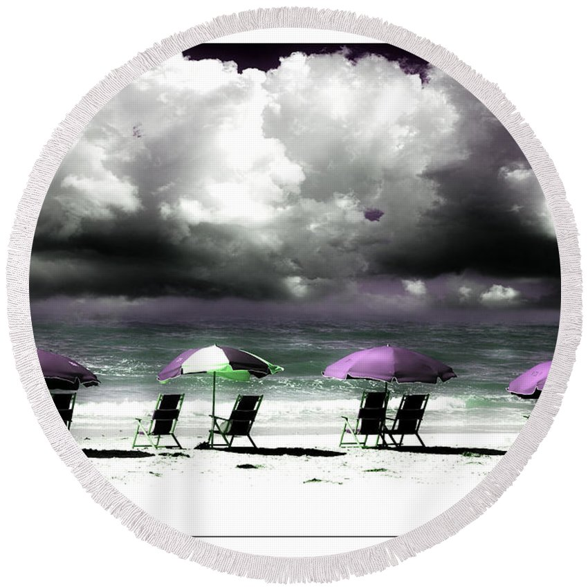 Beach Round Beach Towel featuring the photograph Cloud Illusions by Mal Bray