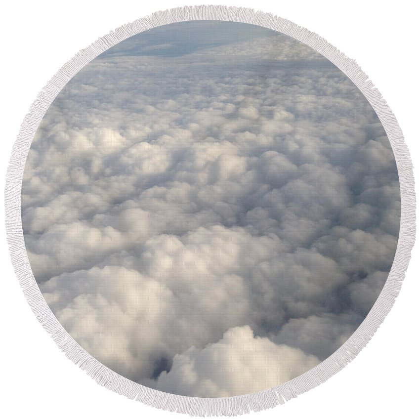 Clouds Round Beach Towel featuring the photograph Clouds by Amy Lionheart