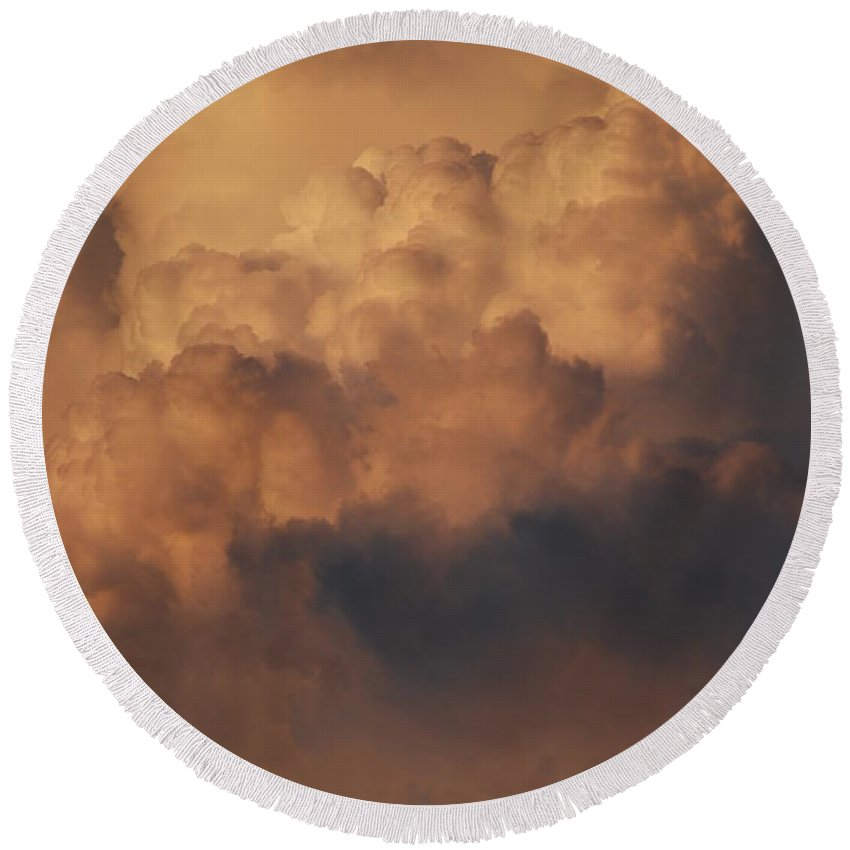 Clouds Round Beach Towel featuring the photograph Clouds In Color by Rob Hans