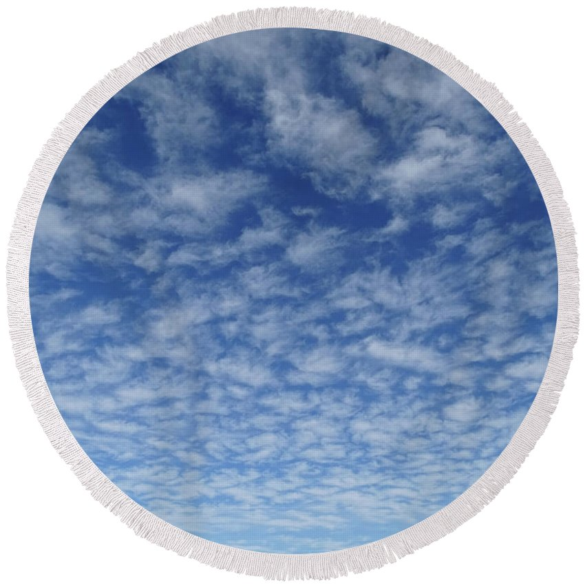 Clouds Round Beach Towel featuring the photograph Clouds by Jamie Ramirez