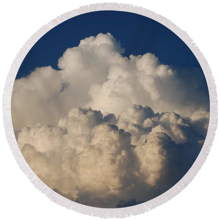 Clouds Round Beach Towel featuring the photograph Cloudy Day by Rob Hans