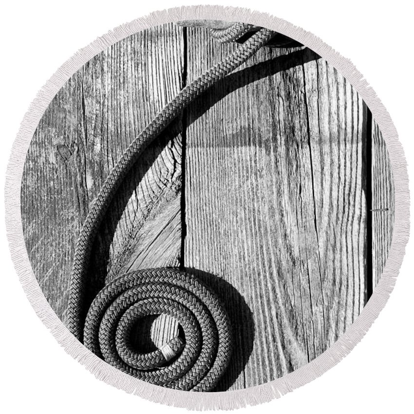 Coiled Round Beach Towel featuring the photograph Coiled by Charles Harden
