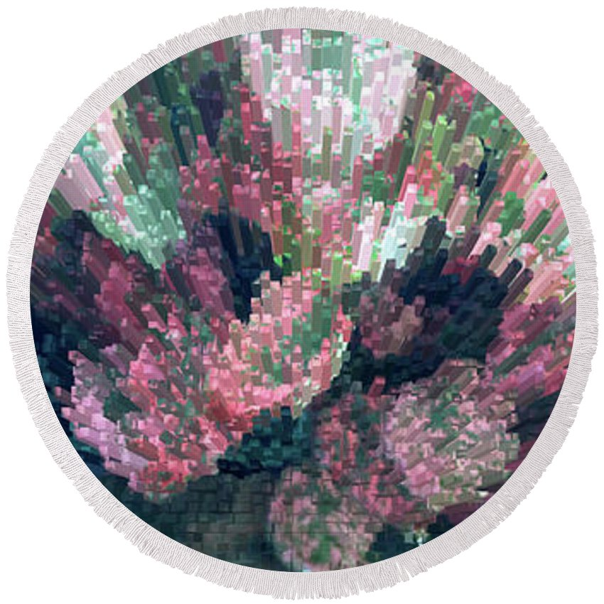 Plant Round Beach Towel featuring the photograph Coleus Extrusion by Laura Mace Rand