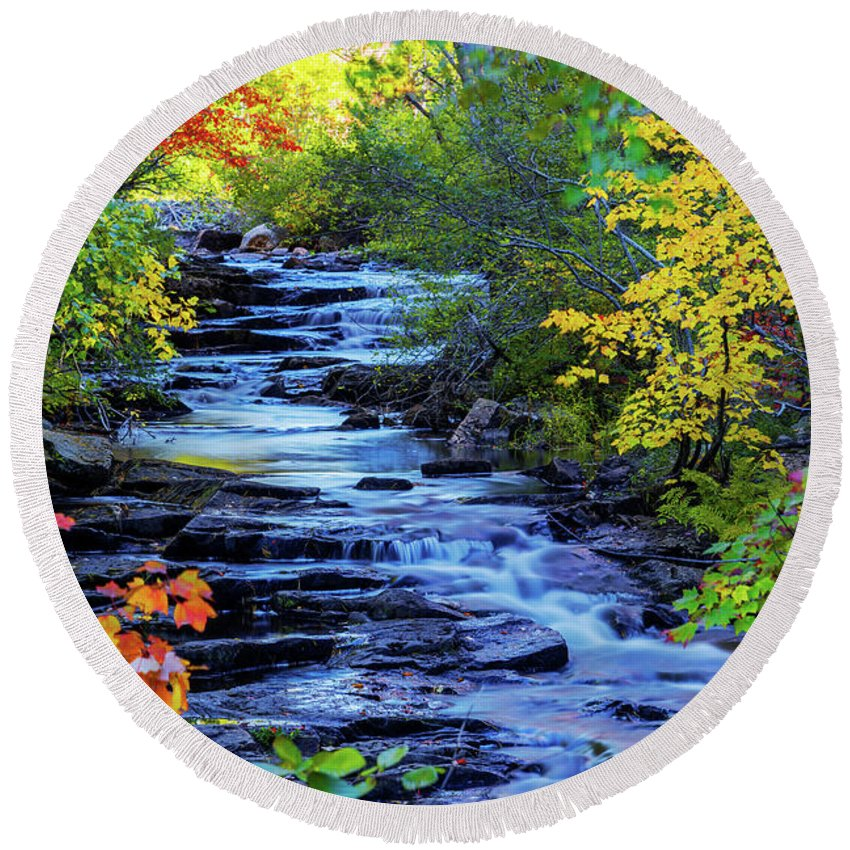 Color Alley Round Beach Towel featuring the photograph Color Alley by Chad Dutson