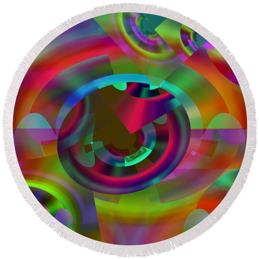 Color Round Beach Towel featuring the digital art Color Dome by Lynda Lehmann