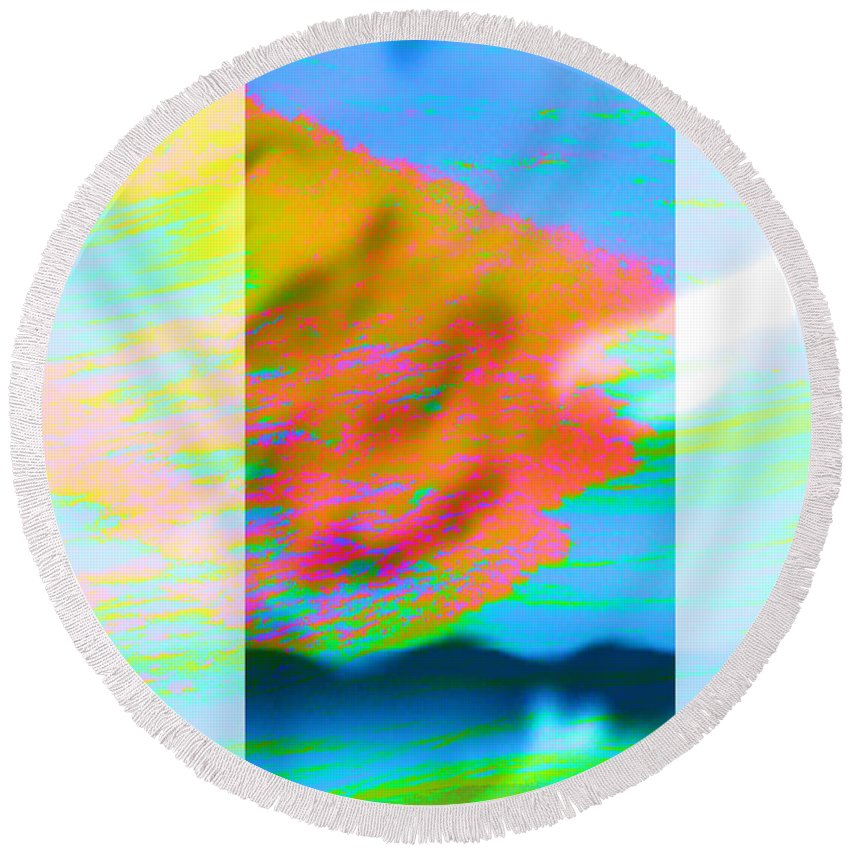 Color Round Beach Towel featuring the digital art Color Wave by Are Lund