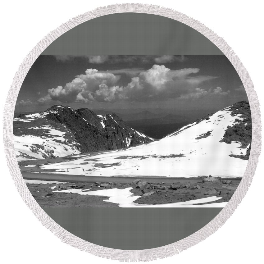 Colorado Round Beach Towel featuring the photograph Colorado Mountians 1 by Anita Burgermeister
