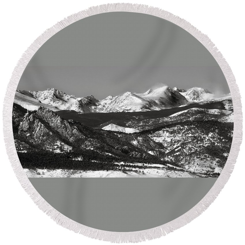 Americana Round Beach Towel featuring the photograph Colorado Rocky Mountains by Marilyn Hunt