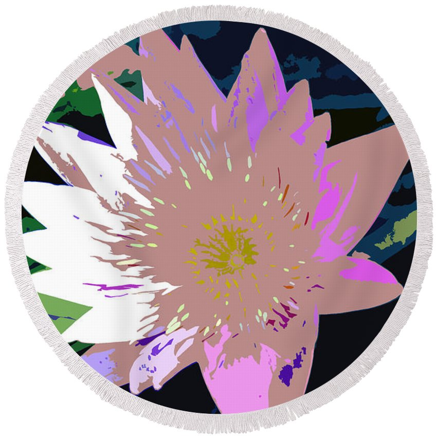 Flower Round Beach Towel featuring the photograph Colorful Beauty Work Number 13 by David Lee Thompson