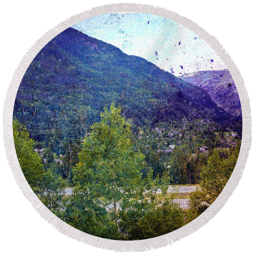 Landscape Round Beach Towel featuring the photograph Colors Of Vail by Madeline Ellis