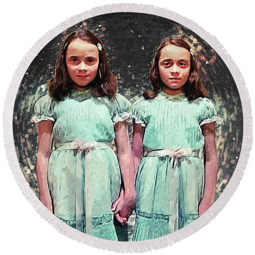 Come Play With Us: The Shining Twins Round Beach Towel