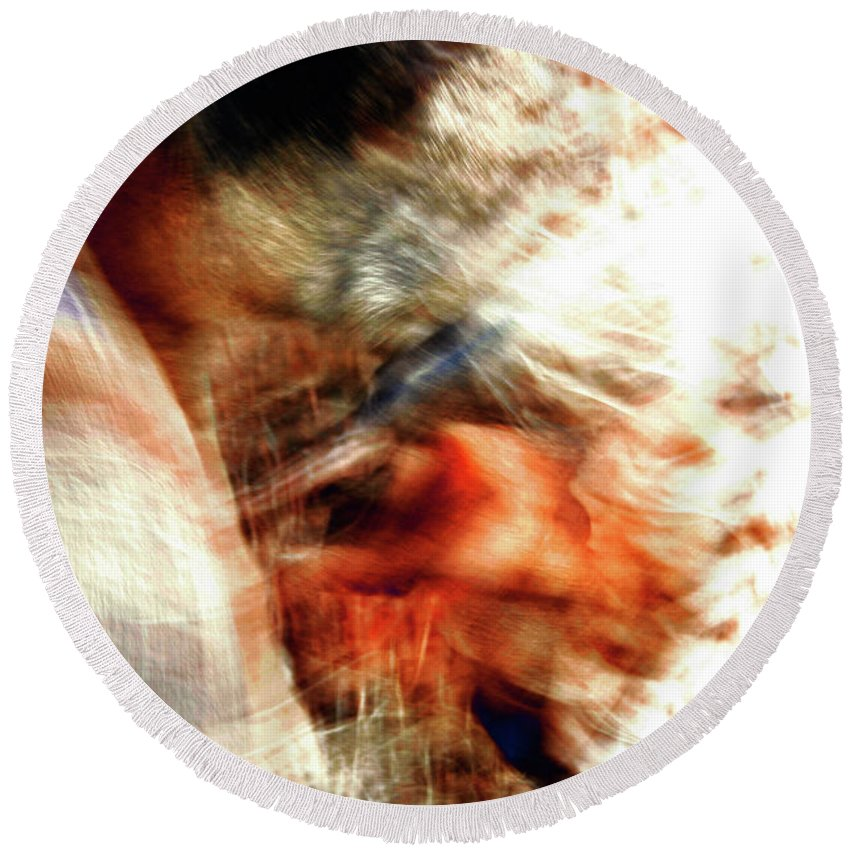 Abstract Round Beach Towel featuring the photograph Comfort Zone by Ric Bascobert