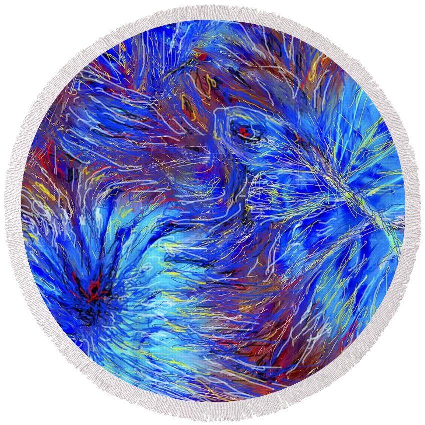Blue Round Beach Towel featuring the photograph Cool Blue by Ian MacDonald