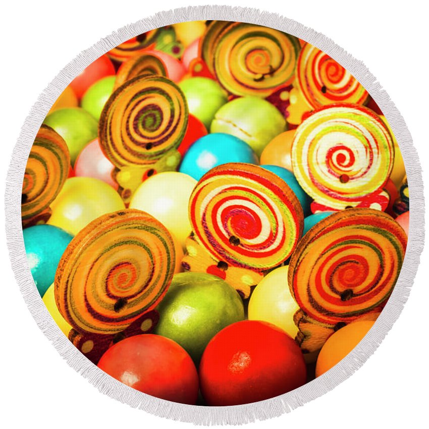 Colourful Round Beach Towel featuring the photograph Corner Store Candies by Jorgo Photography - Wall Art Gallery