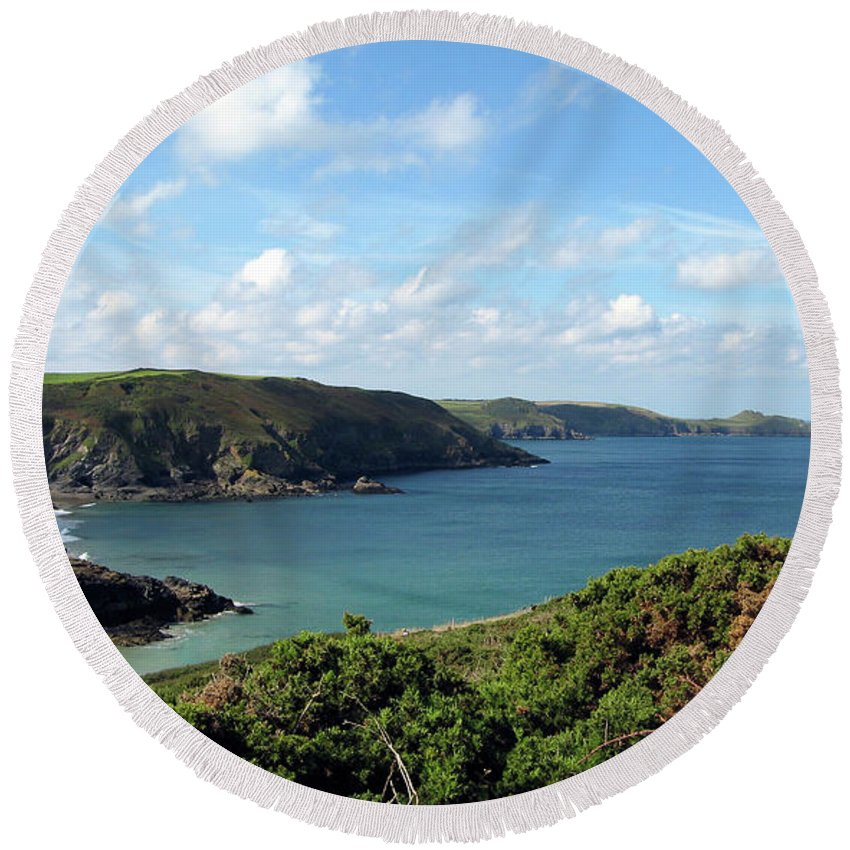Cornwall Round Beach Towel featuring the photograph Cornwall Coast II by Kurt Van Wagner