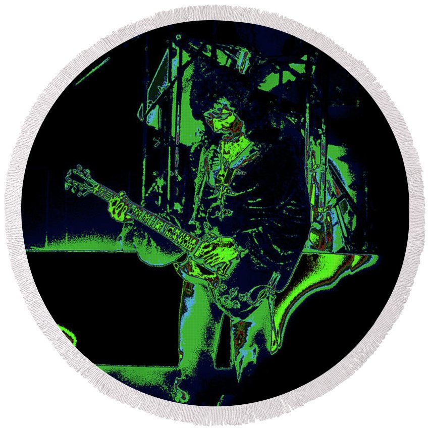 Black Sabbath Round Beach Towel featuring the photograph Cosmicaltony by Ben Upham