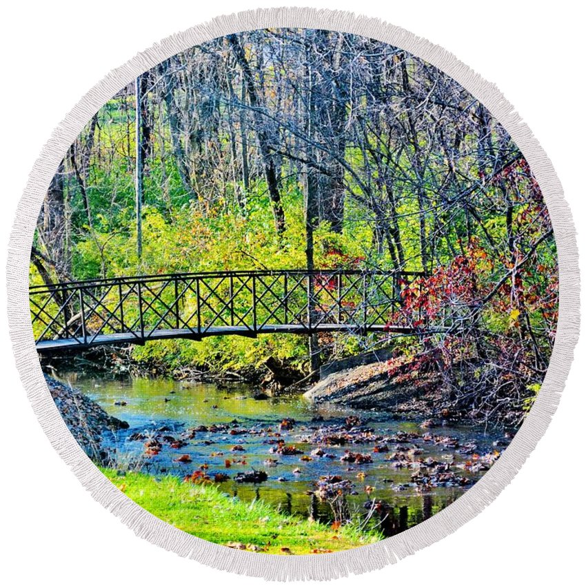Landscape Round Beach Towel featuring the photograph Cozy by Michelle McPhillips