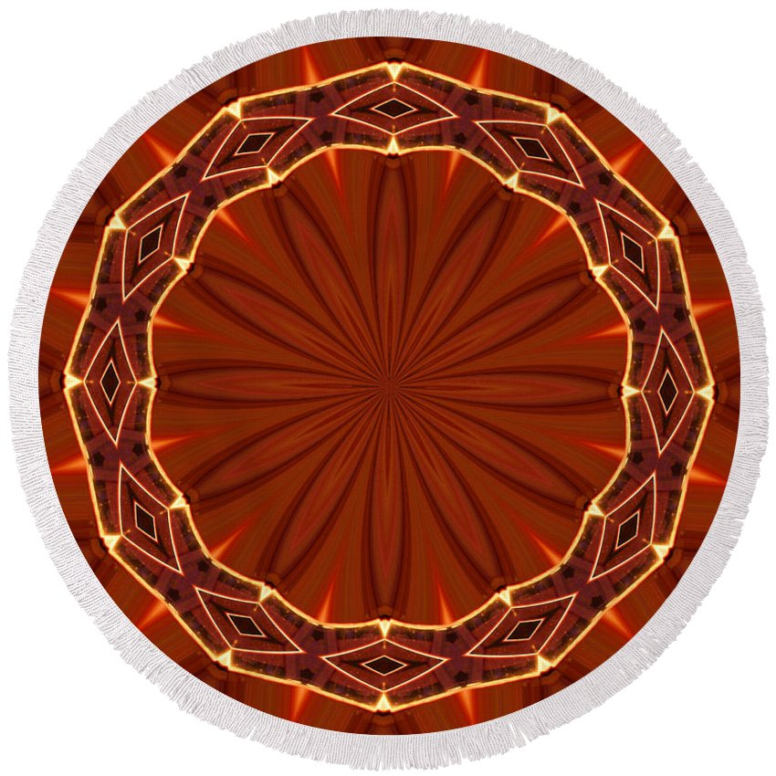 Crown Of Thorns Round Beach Towel featuring the photograph Crown Of Thorns by Kristin Elmquist