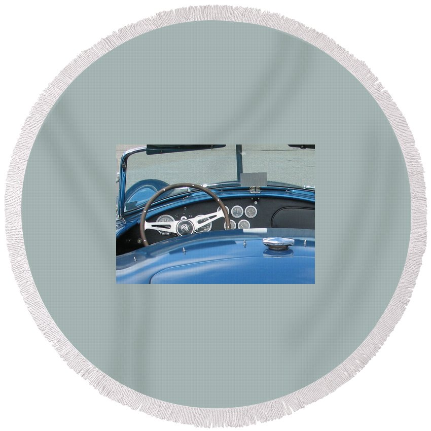 Cobra Round Beach Towel featuring the photograph Cruisin by Kelly Mezzapelle