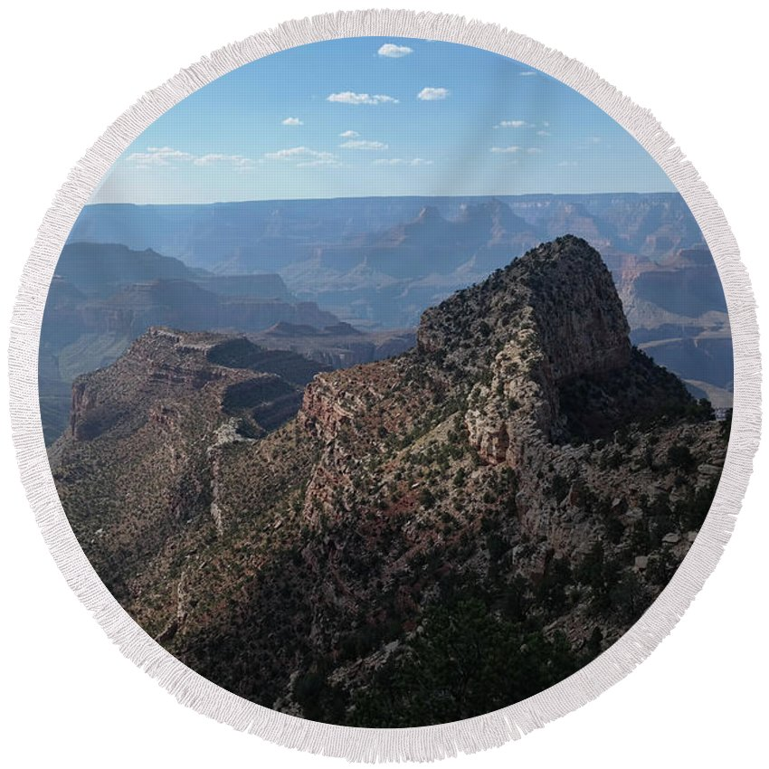 Grand Canyon Round Beach Towel featuring the photograph Crying Man by John Waterman