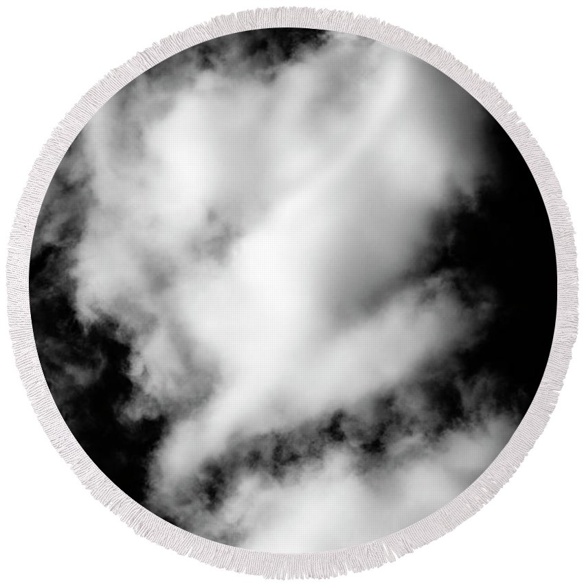 Atmosphere Round Beach Towel featuring the photograph Cumulus Congestus Clouds Dog Shapes by Jim Corwin