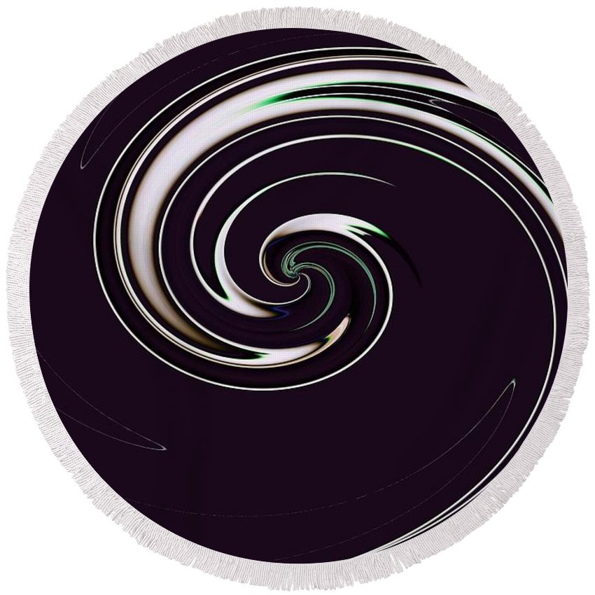 Abstract Round Beach Towel featuring the photograph Curl Up by Tim Allen