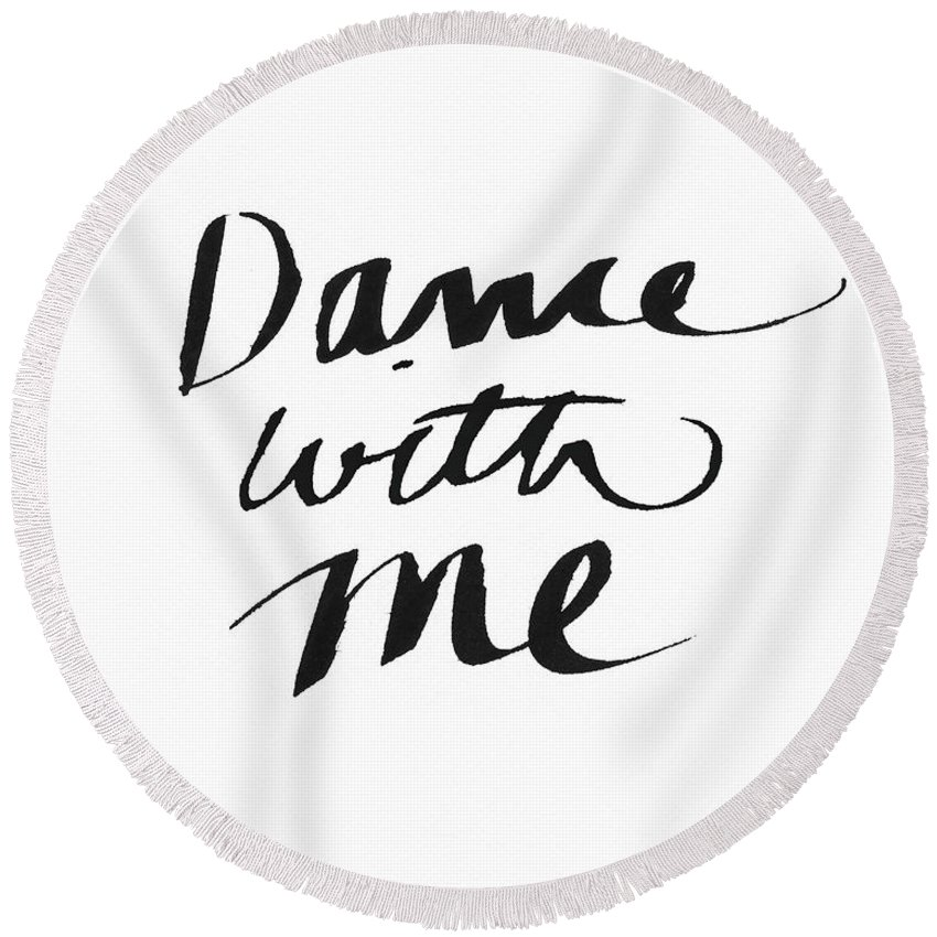 Dance Round Beach Towel featuring the painting Dance With Me- Art by Linda Woods by Linda Woods