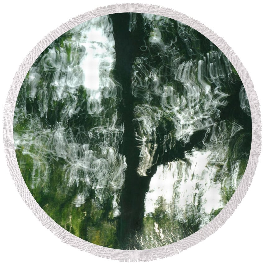 Water Round Beach Towel featuring the photograph Dancing Trees by Donna Blackhall