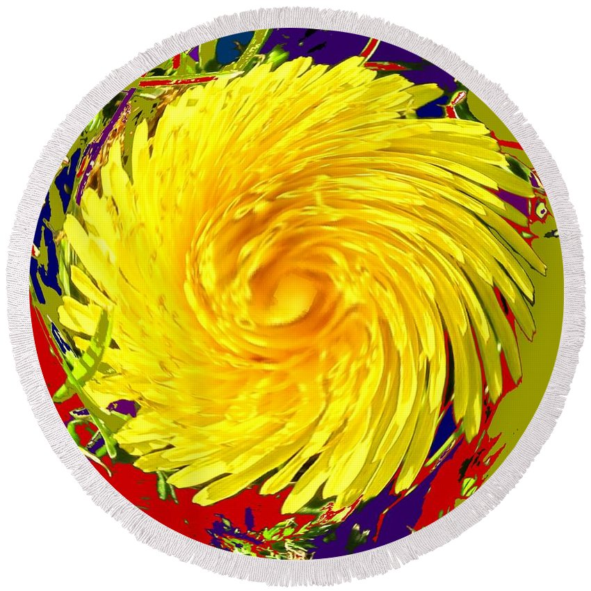 Flower Round Beach Towel featuring the photograph Dandy Three by Ian MacDonald