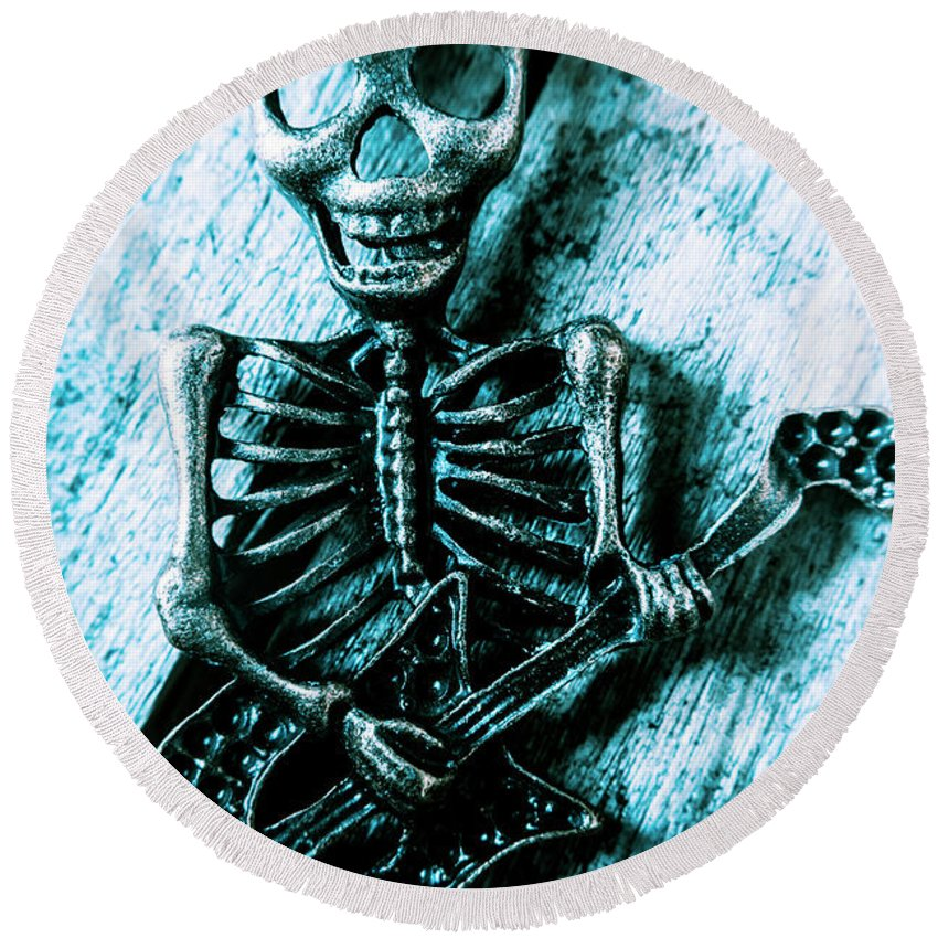 Death Round Beach Towel featuring the photograph Death Metal Blues by Jorgo Photography - Wall Art Gallery