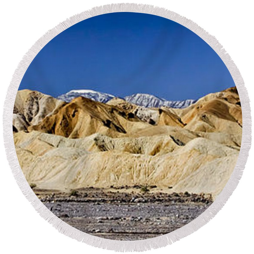 Death Valley Round Beach Towel featuring the photograph Death Valley 1 by Albert Seger