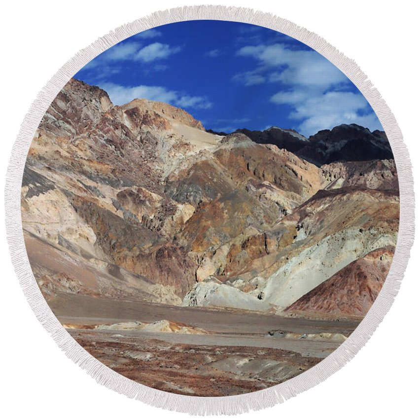 Adventure Round Beach Towel featuring the photograph Death Valley 15 by Ingrid Smith-Johnsen