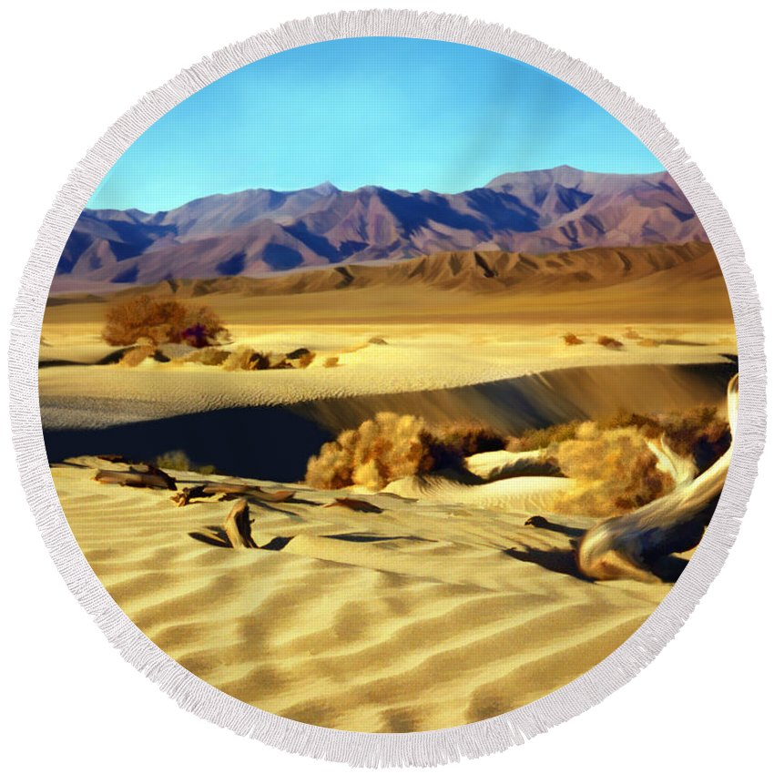 Death Valley Round Beach Towel featuring the photograph Death Valley by Kurt Van Wagner