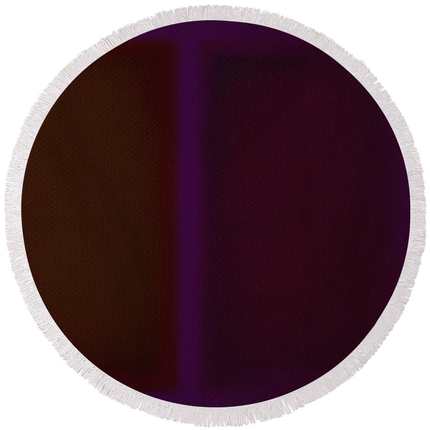 Rothko Round Beach Towel featuring the painting Deep Purple II by Charles Stuart