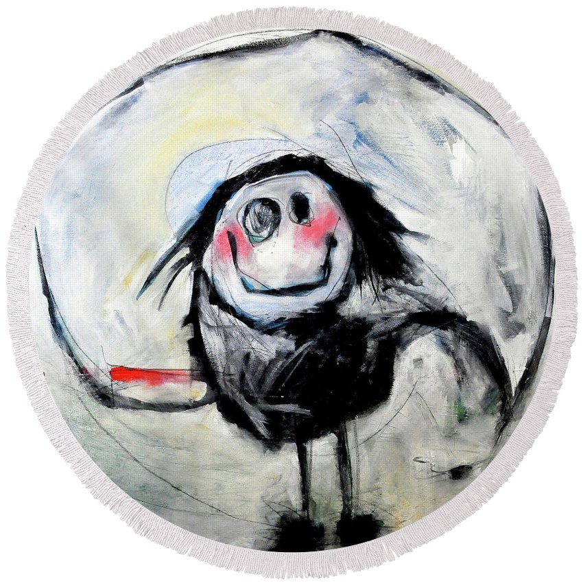 Kid Round Beach Towel featuring the painting Degas Dancer by Tim Nyberg
