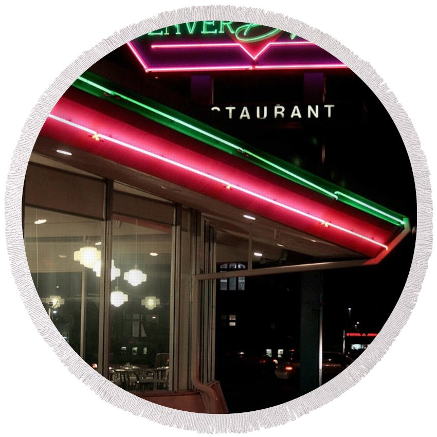 Denver Diner Round Beach Towel featuring the photograph Denver Diner by Jeffery Ball
