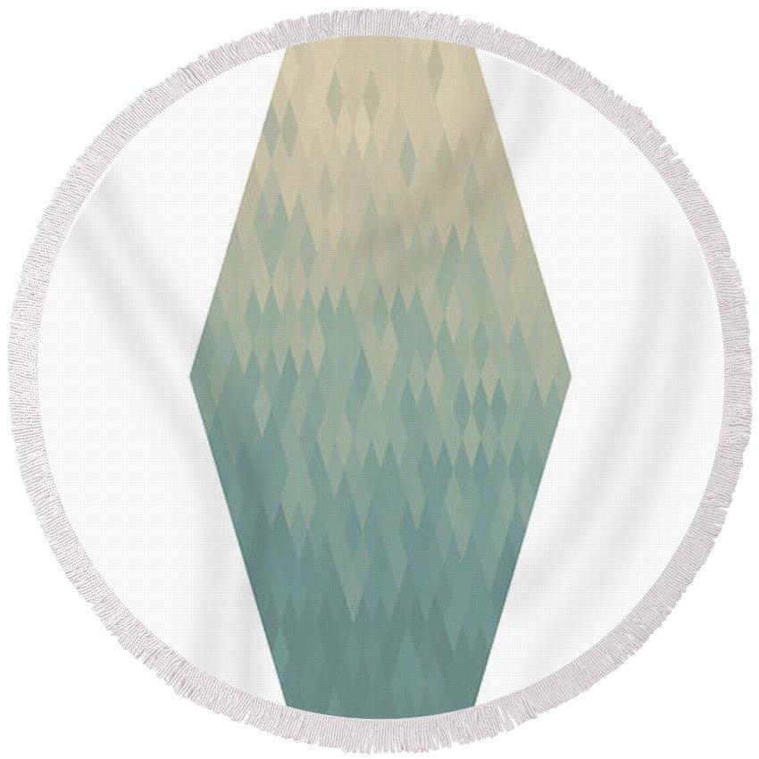 Diamond Round Beach Towel featuring the digital art Diamonds by Kenny Glotfelty