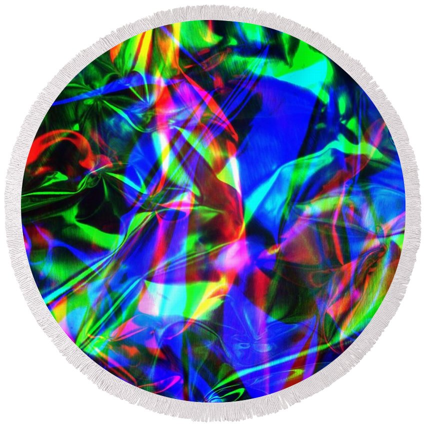 Rgb Round Beach Towel featuring the photograph Digital Art-a10 by Gary Gingrich Galleries