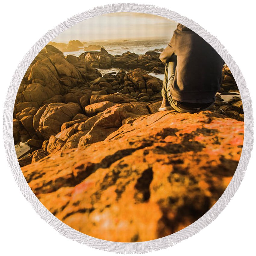 Beach Round Beach Towel featuring the photograph Discovering Wonderful Tasmania by Jorgo Photography - Wall Art Gallery